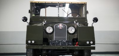 Land Rover Defender Minerva 1952 front view