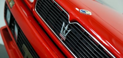 Maserati Shamal front closeup view