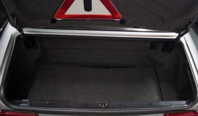Trunk of the Mercedes Benz SL600 1998