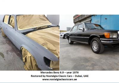 Restoration of Mercedes Benz 6.9 - 1976